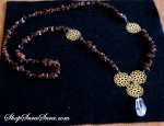 Golden Flowers Necklace